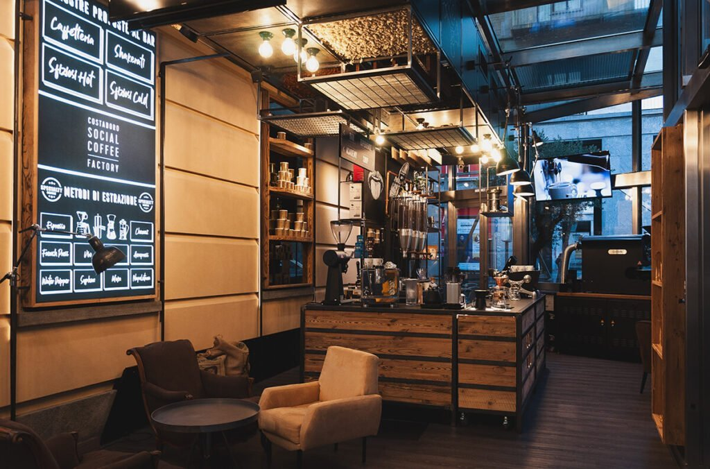 Aprire un bar costadoro social coffee factory