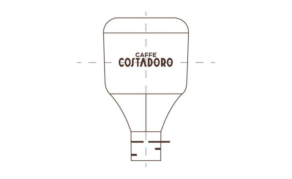 Campana contenitrice BIANCA per caffè in sacchi Ok Compost