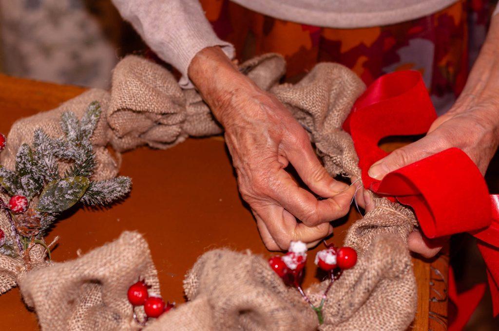 Decorazioni natalizie - Ghirlanda di juta