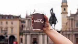 Paper cup Costadoro con caffè filtro